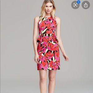 Kate Spade Tropical Peplum Sheath dress
